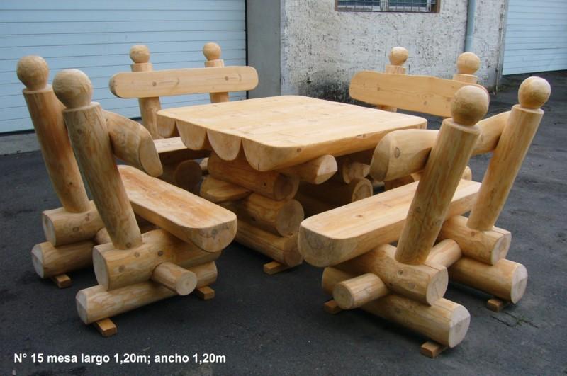 Muebles jardin y terraza for Muebles con troncos